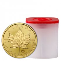 Roll of 10 - 2021 Canada 1 oz Gold Maple Leaf $50 Coins GEM BU