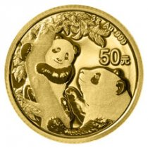 2021 China 3 g Gold Panda ¥50 Coin GEM BU