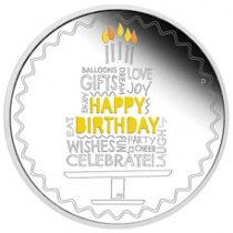 2021-P Australia Happy Birthday 1 oz Silver Proof $1 Coin GEM Proof OGP
