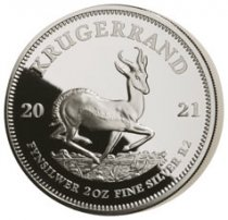 2021 South Africa 2 oz Silver Krugerrand Proof R2 Coin GEM Proof