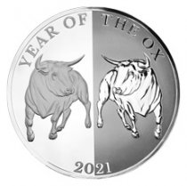 2021 Tokelau 1 oz Silver Lunar Year of the Ox Mirror Proof $5 Coin GEM Proof