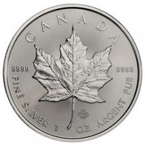 2021 Canada 1 oz Silver Maple Leaf $5 Coin GEM BU