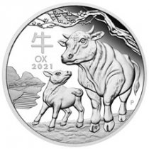 2021-P Australia 1/2 oz Lunar Year of the Ox Proof $0.50 Coin GEM Proof OGP