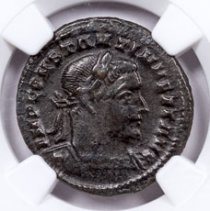 Roman Empire, Billon Nummus of Constantine I (AD 307-337) - London Mint - NGC Ch. XF