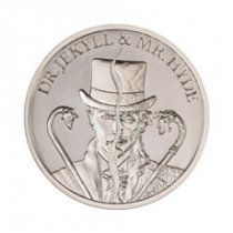 2 oz Silver Intaglio Mint Vintage Horror Series Dr. Jeykll and Mr. Hyde Round GEM BU