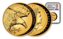 2020-P Australia 2 oz High Relief Gold Wedge-Tailed Eagle Proof $200 Coin Scarce and Unique Coin Division NGC PF70 UC FDI Mercanti Signed Label