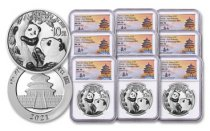3-Pack - 2021 China 30 g Silver Panda - 3-Mint Set ¥10 Coins Scarce and Unique Coin Division NGC MS70 FR Tong Signature
