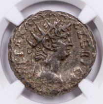 Roman Provincial, Billon Tetradrachm of Nero (AD 54-68) - NGC Ch.XF (Strike: 4/5, Surface: 3/5) ANCIENT EGYPT