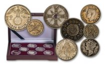 World War II 8-pc Silver Coin Collection Circulated