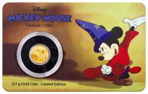 2017 Niue Mickey Through the Ages - Fantasia 1/2 g Gold Proof $2.50 Coin GEM Proof (OGP)
