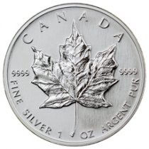 Random Date Canada 1 oz Silver Maple Leaf $5 Coin GEM BU
