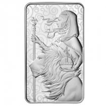 Royal Mint 100 oz Silver Una & The Lion Bar GEM BU