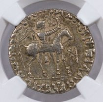 Indo-Scythians, Silver Tetradrachm of Azes I/II (after c.58 BC) NGC VF