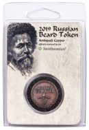 2019 Smithsonian Russian Beard Token Copper Antiqued Medal GEM BU OGP