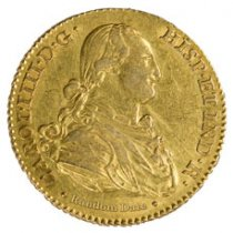 Random Date 1789-1797 Spain Gold 2 Escudos - Portrait Type XF