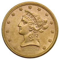 1866-1908 Liberty Head $10 Gold Eagle AU