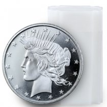 Roll of 20 - Highland Mint Peace Dollar Design 1 oz Silver Rounds