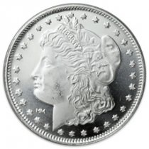 Highland Mint Morgan Dollar Design 1 oz Silver Round