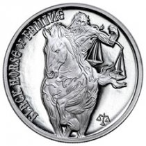 Golden State Mint Four Horsemen of the Apocalypse - Black Horse of Famine 1 oz Silver Round
