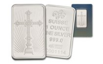 Pamp Suisse Cross 1 oz Silver Bar BU in Sealed Assay Card