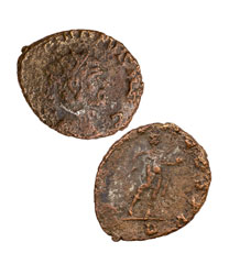 Roman Empire, Billon Nummus of Claudius II (AD 268-270) - Father of Valentine's Day (w/Display Box)
