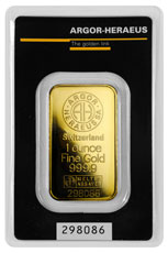 Argor-Heraeus Logo 1 oz Gold Bar In Assay