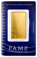 PAMP Logo 1 oz Gold Bar In Assay