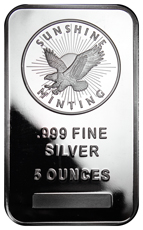 Sunshine Minting Logo 5 oz Silver Bar