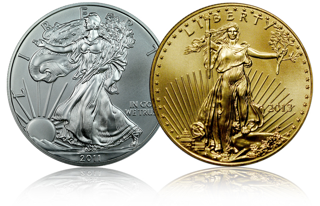 American Gold and Silver Eagle Coins