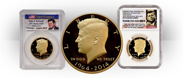 JFK Gold Coin