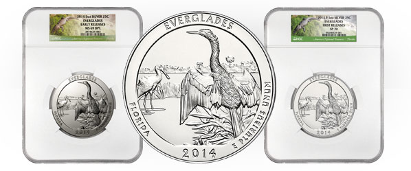 America the Beautiful Everglades 5 oz. Silver Coin