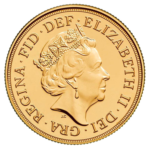 2018 Sovereign obverse design.
