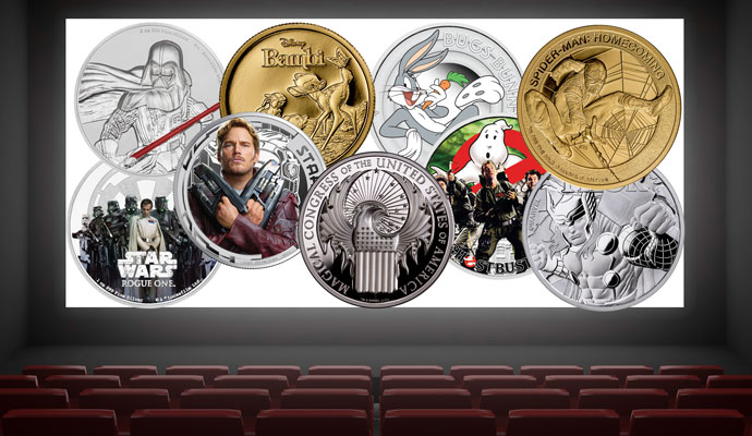MCM movie coins