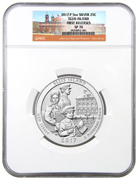 2017 NGC Graded Ellis Islan Coin