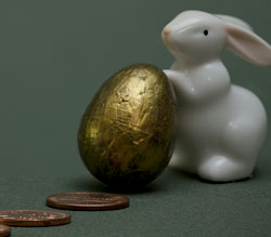 Gold Egg Easter Rabbit