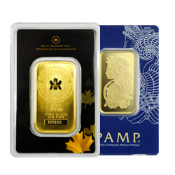 1 oz. .9999 fine gold bars