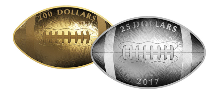 First-Ever Football-Shaped Coin