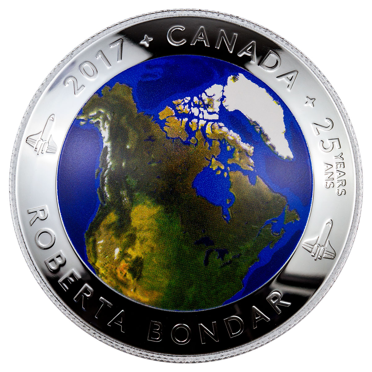 Canada from Space Coin Obverse