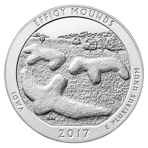 Effigy Mounds America the Beautiful Quarter design