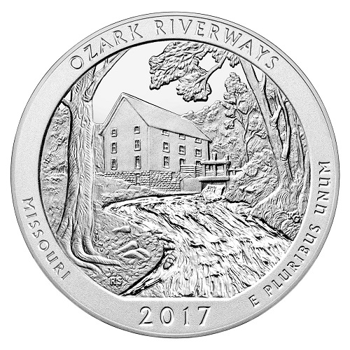 Ozark Riverways America the Beautiful Quarter design