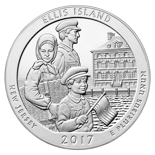 Ellis Island America the Beautiful Quarter design