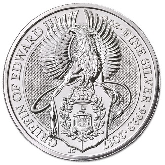 2017 Great Britain 5 Pound 2 oz. Silver Queen's Beasts - Griffin