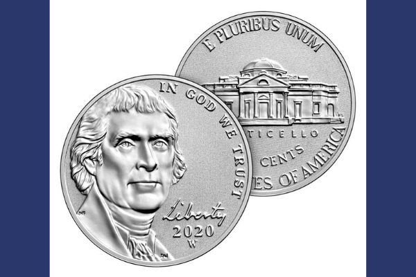 Reverse Proof West Point Mint Jefferson Nickel