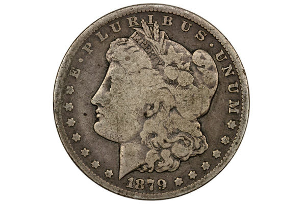 1879-CC Silver Morgan Dollar