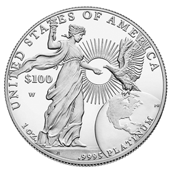 2015-W Proof American Platinum Eagle Reverse