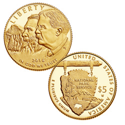 2016 $5 Gold National Park Service