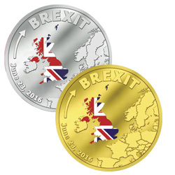 2016 Cook Islands Colorized Proof Brexit Coins