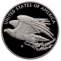 Reverse of the 2016 1 oz. Proof Silver American Liberty Medal.
