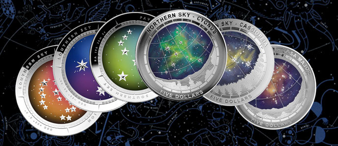 Southern and Northern Sky Series from the Royal Australian Mint