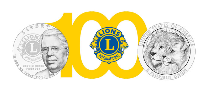 2017 Lions Club Commemorative Dollar Honors a Century of Service.